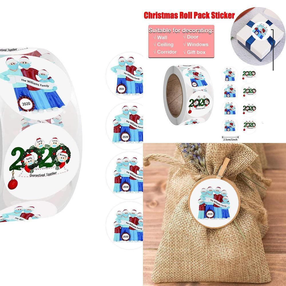 3.8cm 500pcs / rouleau de Noël autocollants Patterned Round Cartes Enveloppe Paquet cadeau Décorations Party Seal Labels K9cx