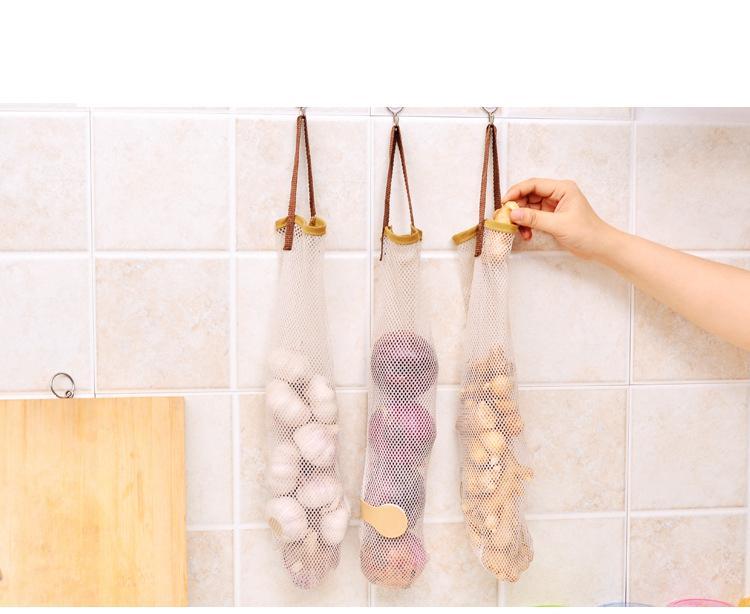 الإبداعية الخضروات البصل البطاطا تخزين حقيبة شنقا حقيبة المطبخ الثوم الزنجبيل شبكة تخزين حقيبة جوفاء تنفس الفاكهة شبكة حقيبة أدوات YYS3172
