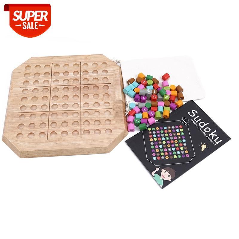 Ahşap Sudoku Oyun Satranç Eğitim Geliştirme Bulmaca Oyunları Ahşap Bulmaca Çocuklar için Popüler Oyuncaklar # EJ6I