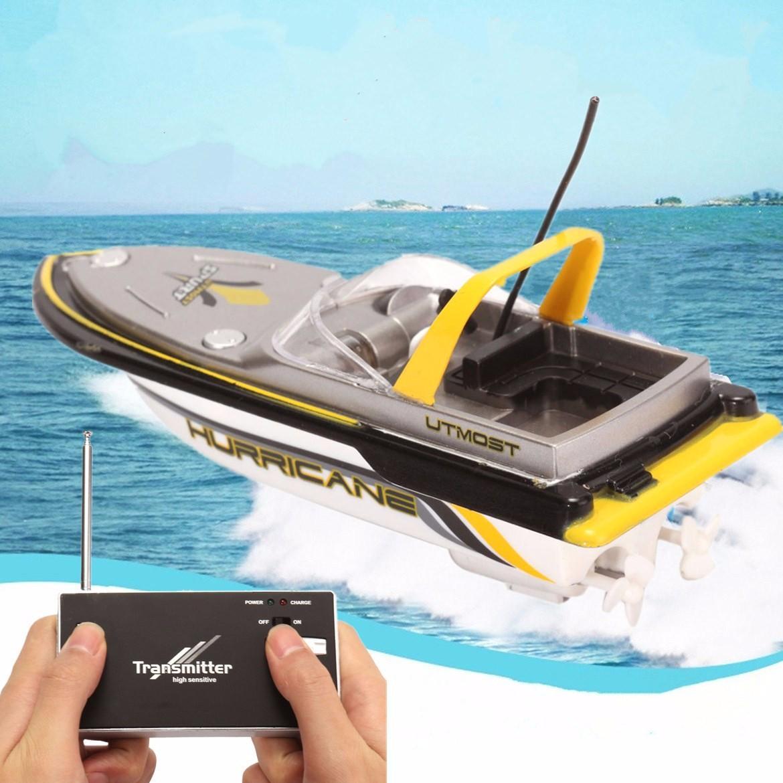 Radio RC elettrico a distanza doppia del motore della nave eccellente di controllo mini di velocità della barca giocattolo per bambini Quick Charge 40MHz regalo per il ragazzo intelligente Frequenza