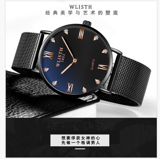 2021 Reloj de moda de moda delgada de la moda de los nuevos hombres El reloj de cuarzo impermeable de las mujeres es cien y elegante reloj para las mujeres relojes de lujo
