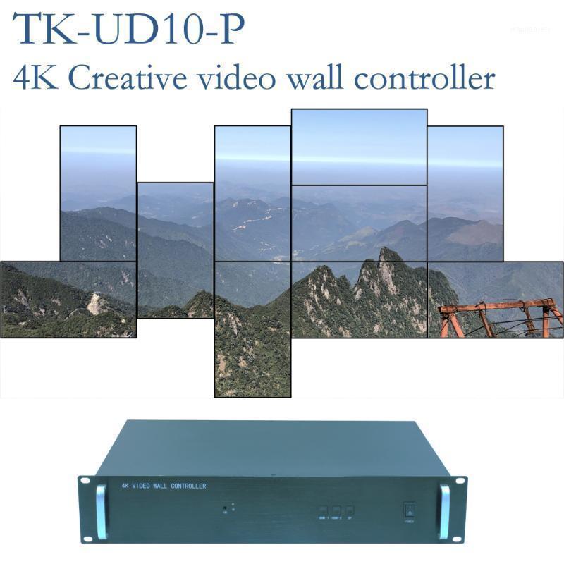 Controlador de pared de video creativo 4K para 10 unidades, procesador de pared de video creativo, procesador irregular1