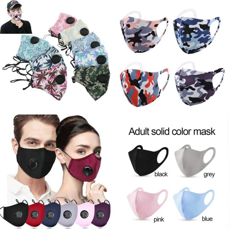 Maschera viso Anti-polvere ErCorbio con il valore di respirazione Le maschere riutilizzabili regolabili regolabili maschere protettive antipolvere traspirante spedizione gratuita