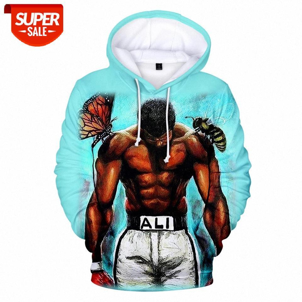 Muhammad Ali Casual Beliebte Hip Hop 3D Hoodies Jungen Mädchen Frauen Männer Harajuku Geeignet Muhammad Ali 3D Männer Hoodies Sweatshirt # 7W80