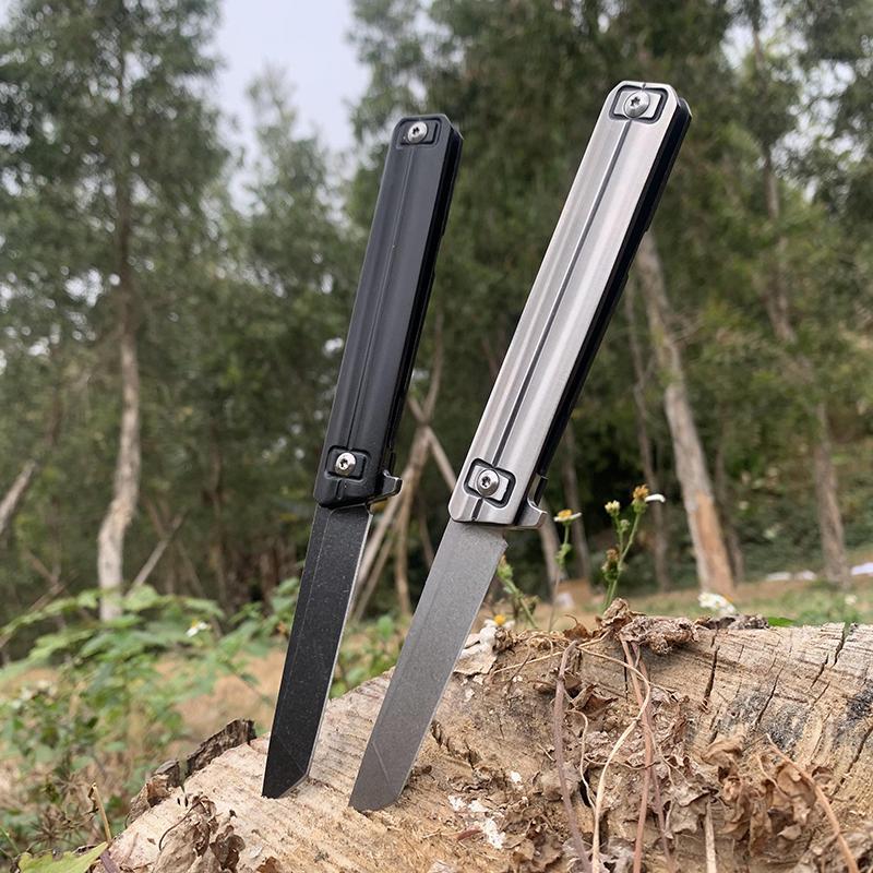 Neue Utility Selbstverteidigung Klappmesser D2 Blade + 440c Stahlgriff EDC Outdoor Jagdmesser Boutique Tragbare Werkzeug