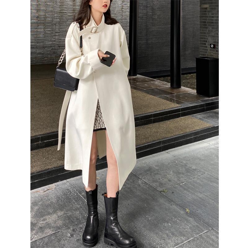 المرأة الخندق معاطف الإناث نجمة مطار سترة واقية النمط البريطاني أزياء مزاجه طويل معطف الخريف الاتجاه