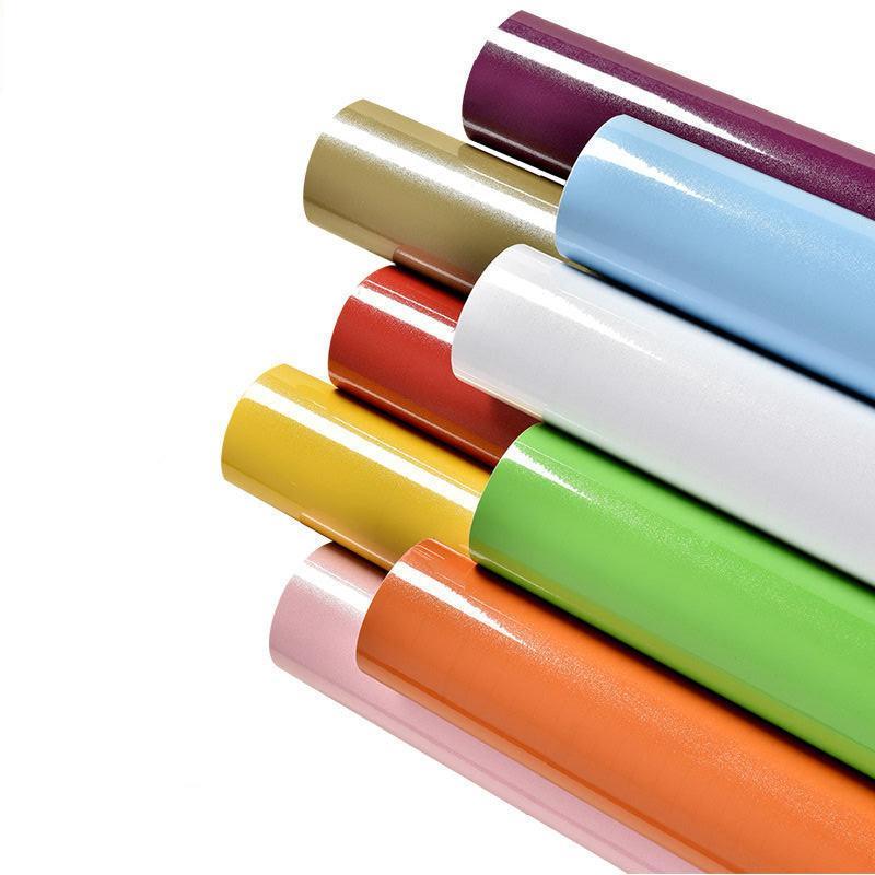 Premium glänzend selbstklebende Tapete Aufkleber, 2D PVC wasserdichte öldrofe Wandpapieraufkleber, DIY Wohnkultur Schlafzimmer Badezimmer Küche