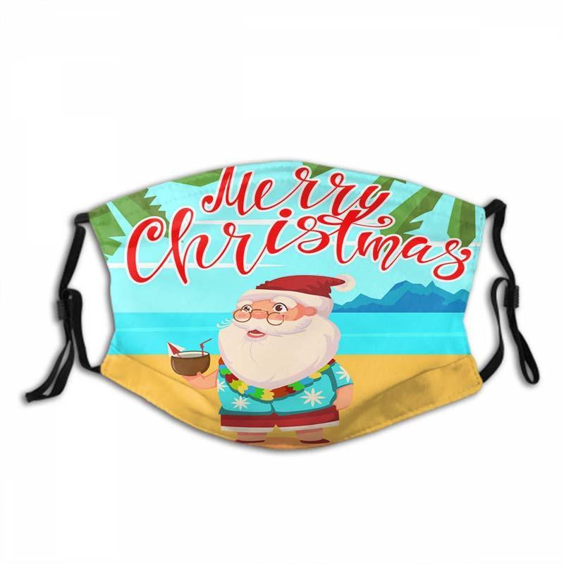Père Noël en plein air Masque Masque Halloween Noël Crème solaire anti-poussière et respirante Masques 792