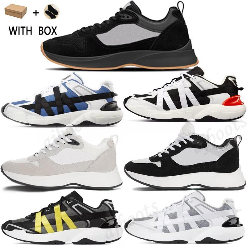 2021 أفضل b25 b24 منحرف عداء حذاء الرجال منصة الأحذية المصممين أسود أبيض جلد الغزال المدربين شبكة الدانتيل متابعة عارضة الأحذية # 59