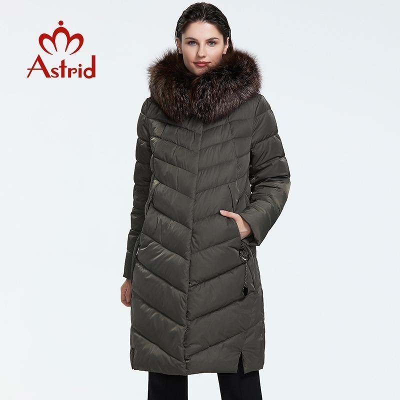 Astrid Winter Neue Ankunft Daunenjacke Frauen mit einem Pelzkragen Lose Kleidung Oberbekleidung Qualität Frauen Wintermantel FR-2160 210203