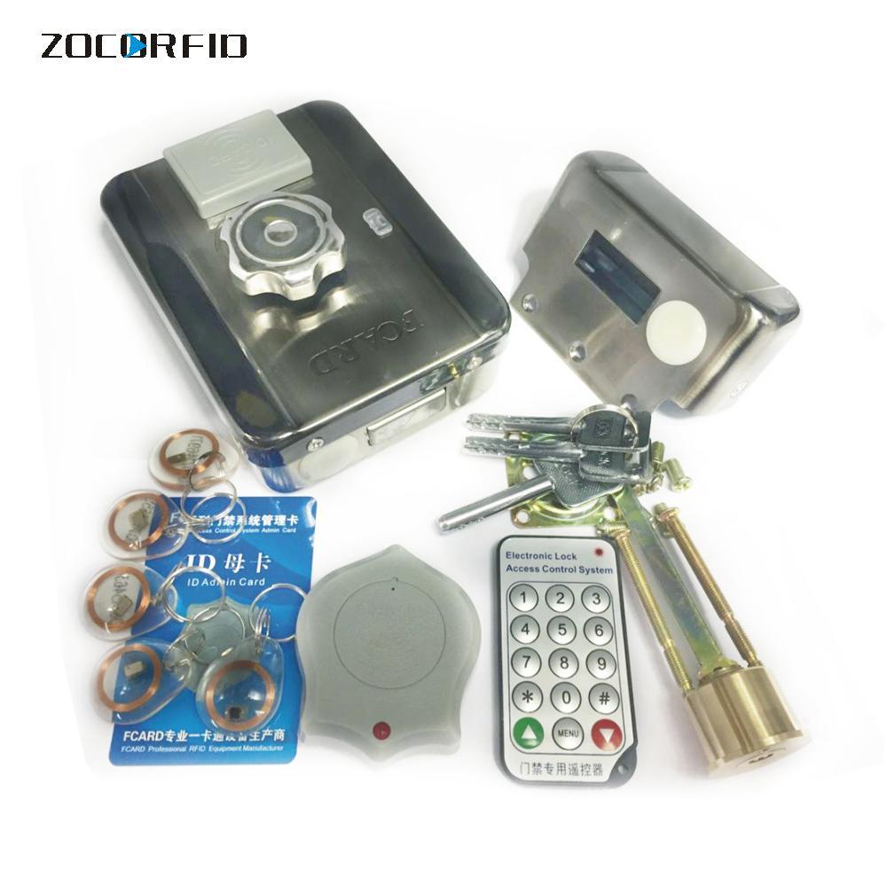 1000Users elektroniska dörrlås med fjärrlåsning med smart RFID-kort Hem Säkerhetssystem Kit Access Control System