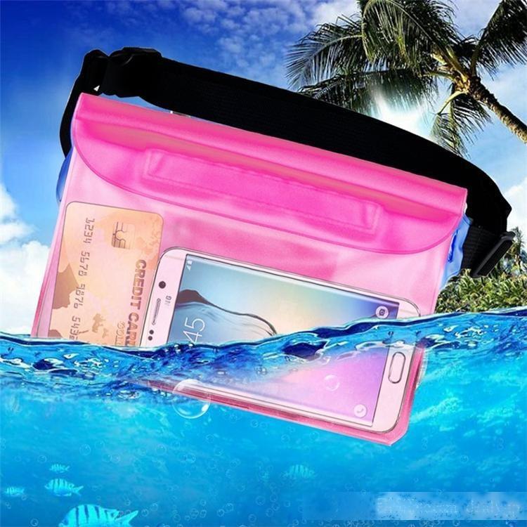 Camera Case impermeabile universale Sacchetto trasparente prova dell'acqua del telefono mobile con la Striscia di vita per il nuoto immersioni