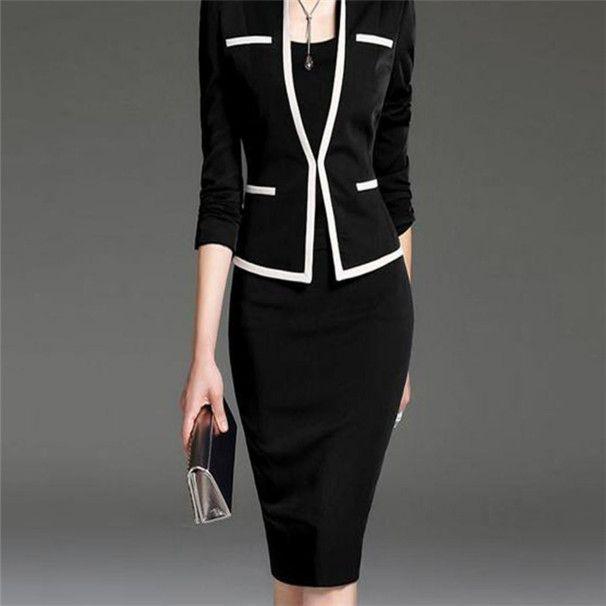 saco magro hip Europeu e vestido americano Amazon populares lapela saia novo estilo das mulheres profissional terno verão
