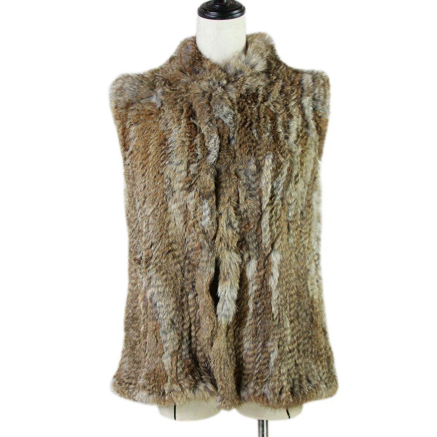 17 цветов женщина девушка настоящий кролик меховой жилет куртка весенняя зима теплая настоящая подлинная мех кролика вязаное пальто жилет черный бежевый lj201204