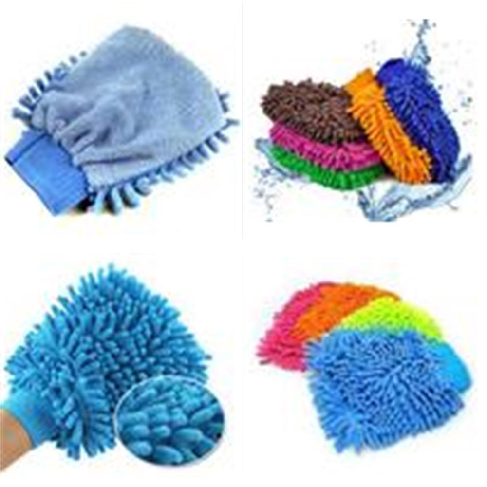 Lavar el paño de microfibra chenilla coche escoba de limpieza Guante mittoutlet9F5K