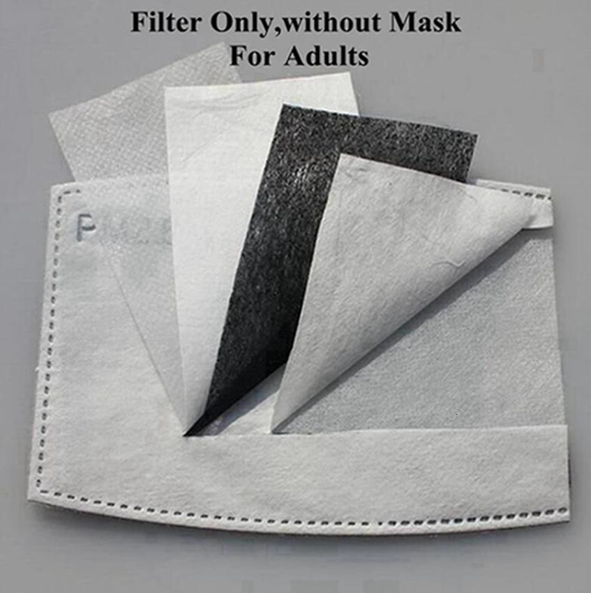 2020 Einweg-PM2.5 Mask Filtermatte 5 Schicht Schutzgesichtsmasken Ersatzkissen innere Dichtung Ersatzfiltermatte Respirator Iia346