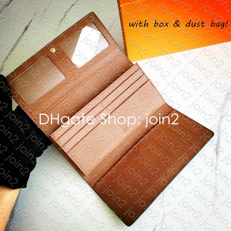 M58101 ID LARGO carpeta del diseñador titular de la tarjeta con cremallera para mujer Zippy Monedero Sarah Clemencia Victorine Juliette cadena carpeta dominante de la bolsa Pochette