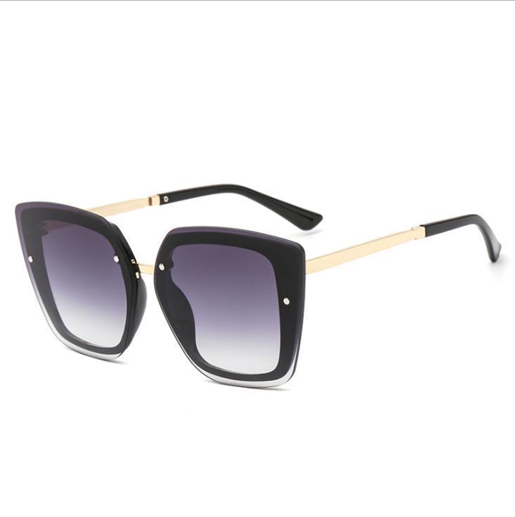 2020 Oversize Piazza Wmen occhiali da sole di modo degli uomini tonalità Materiale Plastica 2767 protezione UV400 Vintage Eyewear