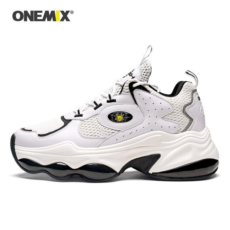 ONEMIX 2020 Chegada Nova Sapatos Mulher Basquetebol Running Shoes Altura aumentando sapatos Sneakers respirável Mulheres Platform Schuhe Rua Esportes