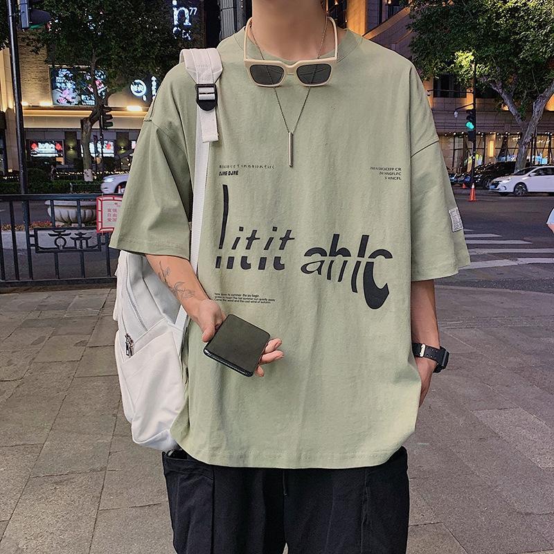 dszUW Estate manica nuova American Top Coat hop T-shirt stampata hip maglietta short alfabeto per bambini e adolescenti marchio di moda allentato mezzo Slee