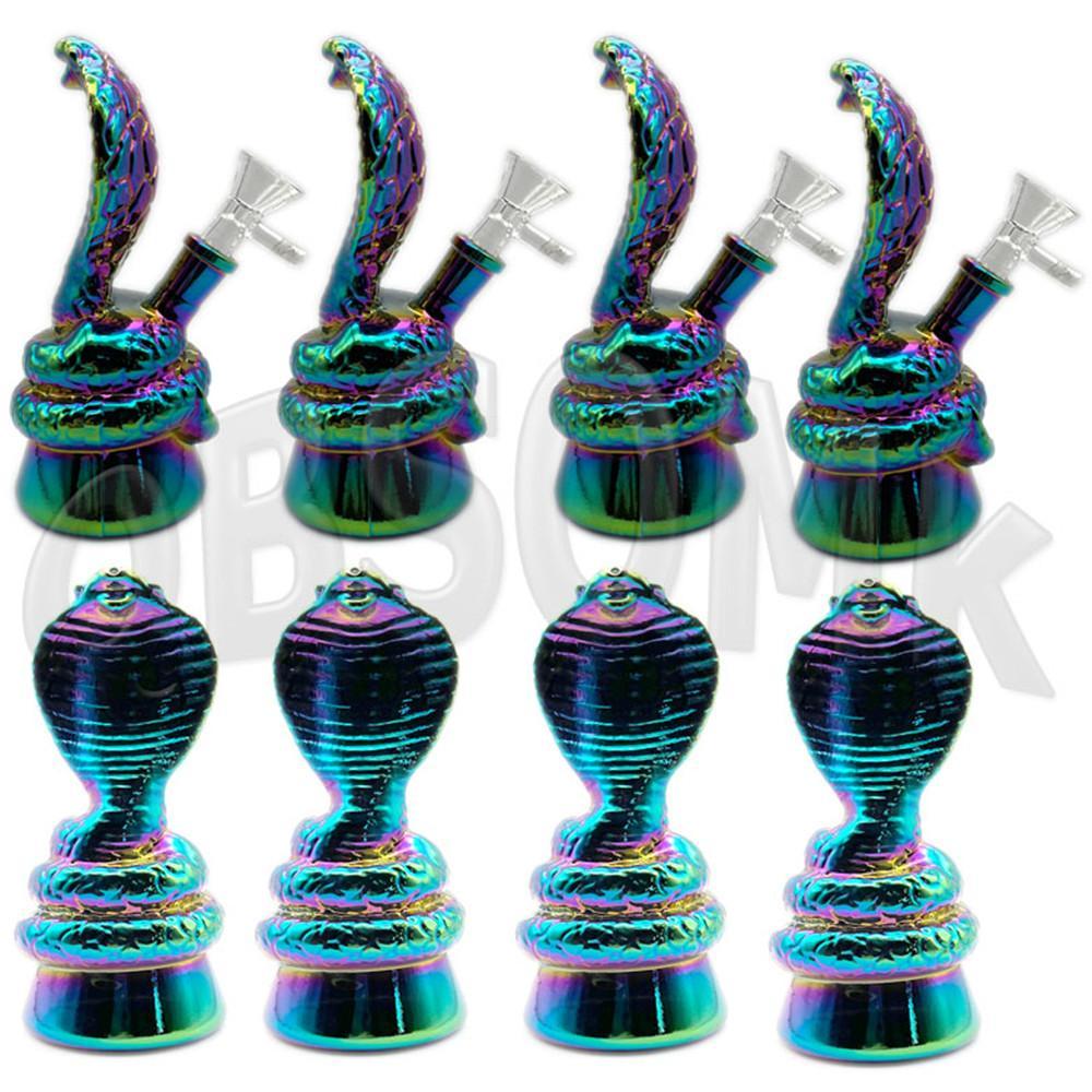 QBSOMK Small 6.5 '' Acqua di vetro Bong Mini Glass Bong Tre diversi colori Snake Forme Spedizione veloce