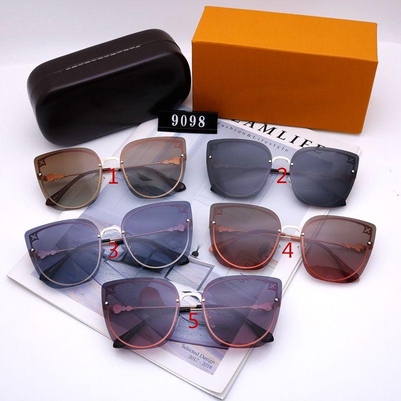 نظارات شمسية من خمسة ألوان للرجال والنساء تصميم فاخرة القط العين جودة عالية HD الاستقطاب عدسات القيادة في الهواء الطلق نظارات الشمس 9098