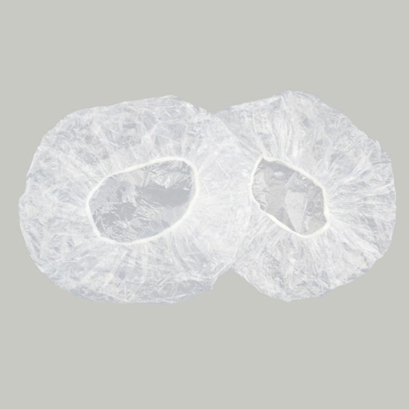 200/100 pcs impermeável plástico espessado tampa de chuveiro descartável tampa de banho tampa de cabelo adulto à prova d'água
