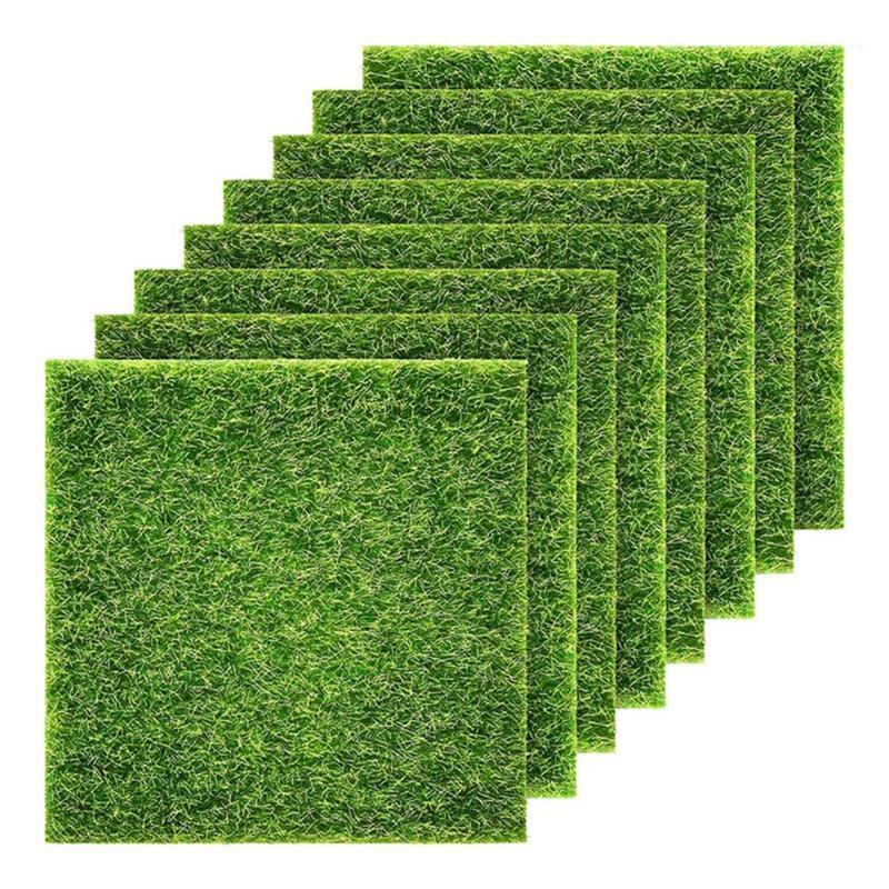 Декоративные цветы венки 1/2шт имитации садовые травы, подобные жизни сказочный газон 6 x дюймов миниатюрный орнамент diy decortb sale1