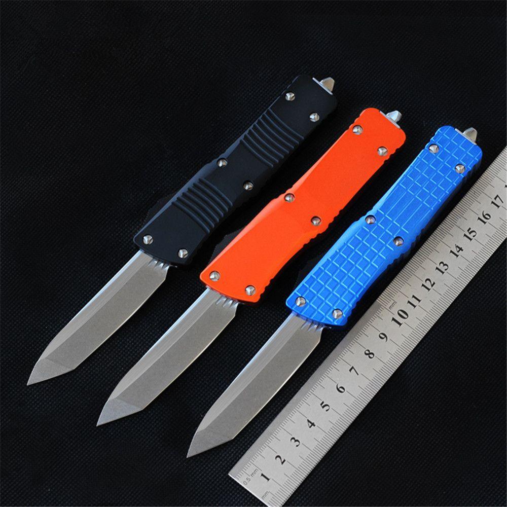 Tre tipi di stile in alluminio coltello D2 doppia azione EDC Pocket Defense Difesa campeggio tattico coltello autodifesa all'aperto sopravvivenza utensili da cucina coltello