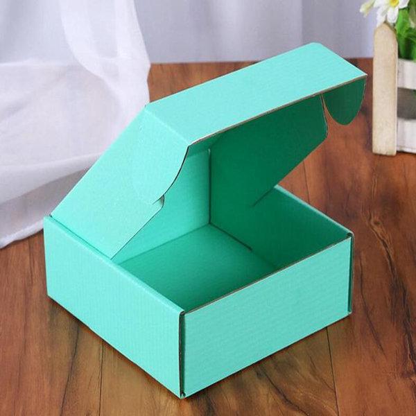 골판지 종이 상자 컬러 선물 포장 접는 상자 사각형 포장 상자 보석 포장 골판지 상자 15 * 15 * 5cm