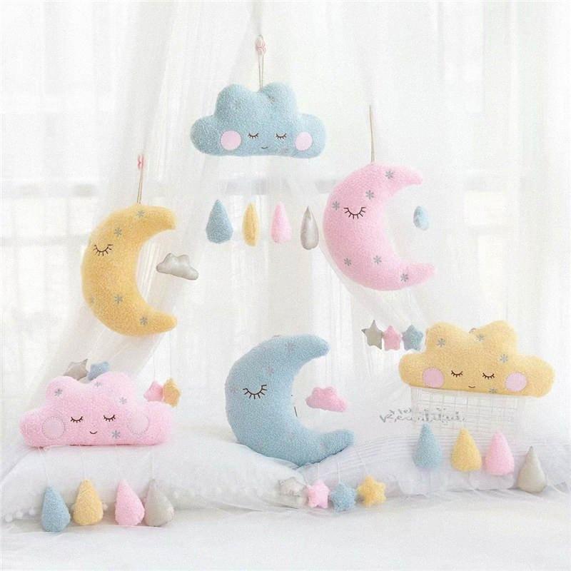 Presente de Santa Decor New Nuvem Pillow Lua, Nuvem Fun Pillow menina presente de aniversário Plush Toy Boneca pode ser personalizado 35x20cm YT0l #