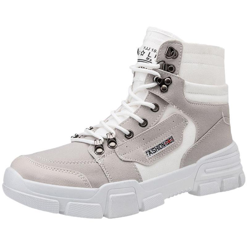 SAGACE 2020 zapatos de marea para hombres altos para ayudar a los deportes de moda coreanos botas casuales salvajes