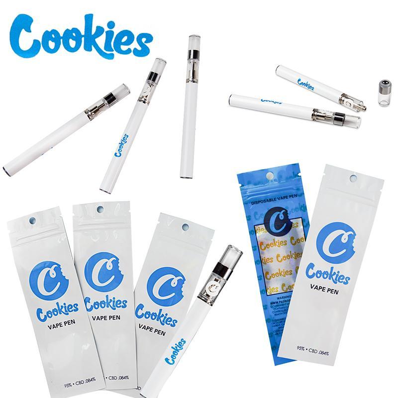 Más nuevos Vape Pen Galletas Carros Carros de aceite vacíos Paquete Bolsa de paquete Vaporizador Kit de inicio 0.5ml Cerámica Bobina E Kits de cigarrillos