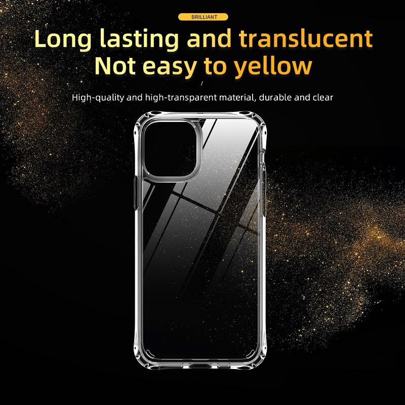 High Clear Transparent Acrylic phone cases For iPhone x xr xs max cover iphone 678 Plus iphone 11 12 pro max phone case