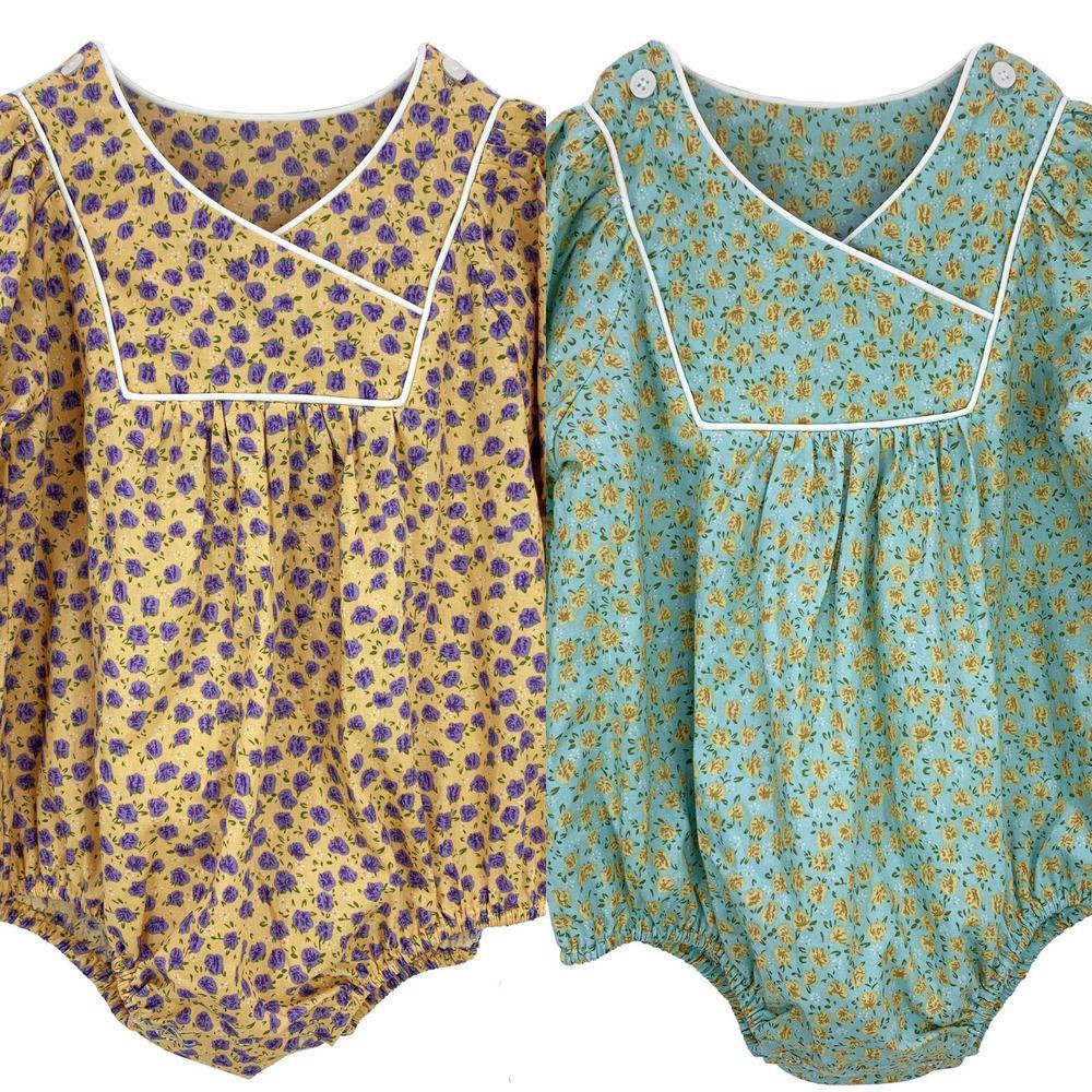 Осень цветочные детские девочки ползунки детская одежда милый корейский ребенок baby babyie комбинезон новая рожденная полнолунная фотография spore sunsuit новый y1221