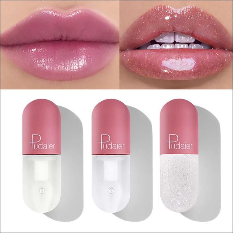 Lip Gloss Shimmer Lipgloss Mini Tubo Hidrate Clear Mudança Cor Plumping Glitter Lips Maquiagem Makeup Tint Cosmetic