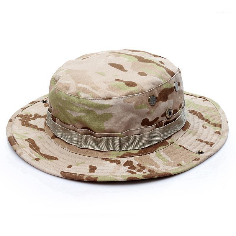 Широкие шляпы Brim Tactical Sniper Camouflage Booonie Nepalese Cap Militares Army Mens American Accessorics1
