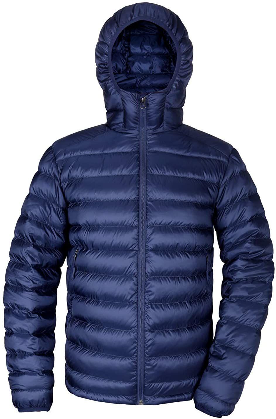 Fırın Erkek Kapşonlu Katlanabilir Ceket, Hafif kapitone Aşağı Sıcak Kış Ceket
