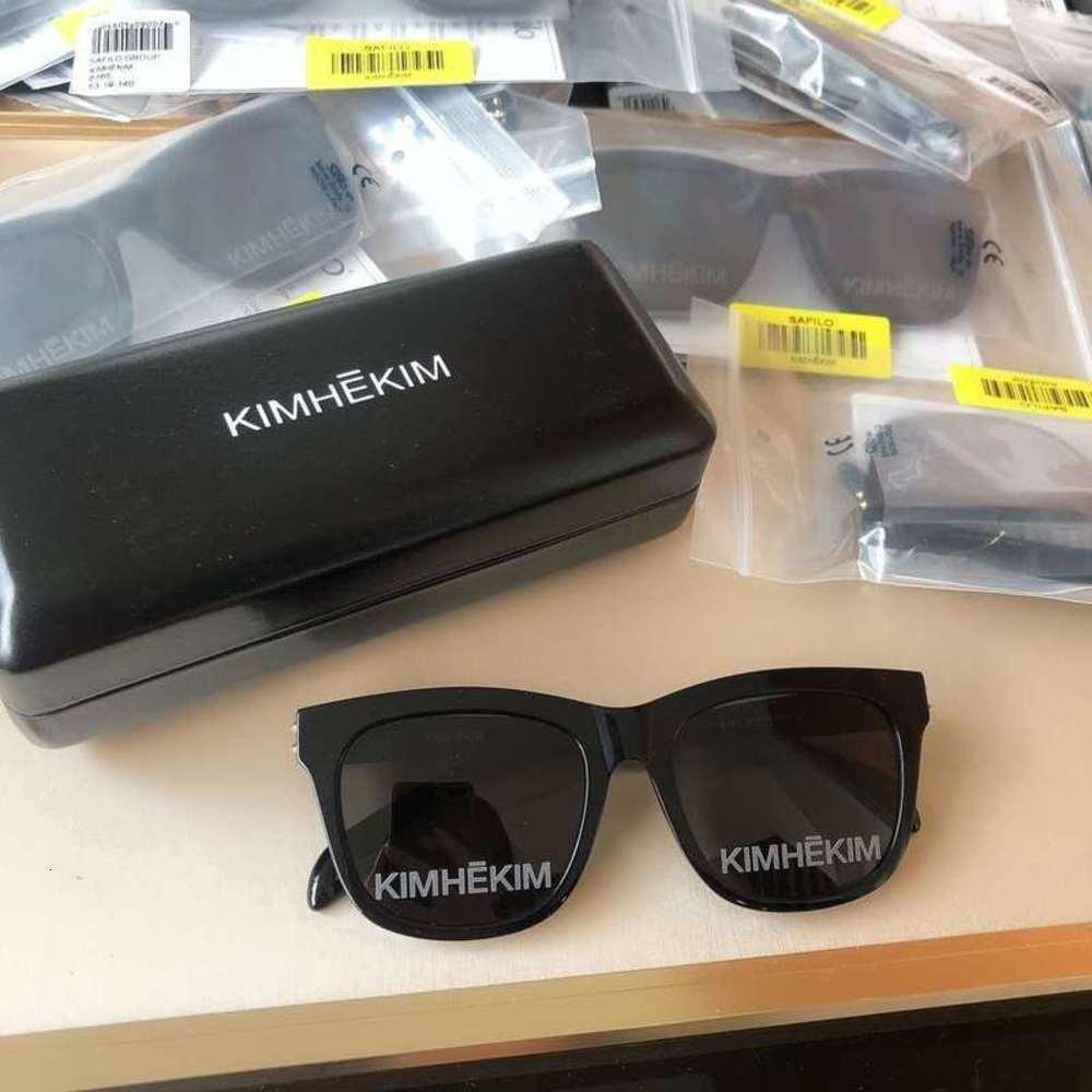 letter Kimhekim Sunglasses black polarizing double sunglasses kimh? plate Kim