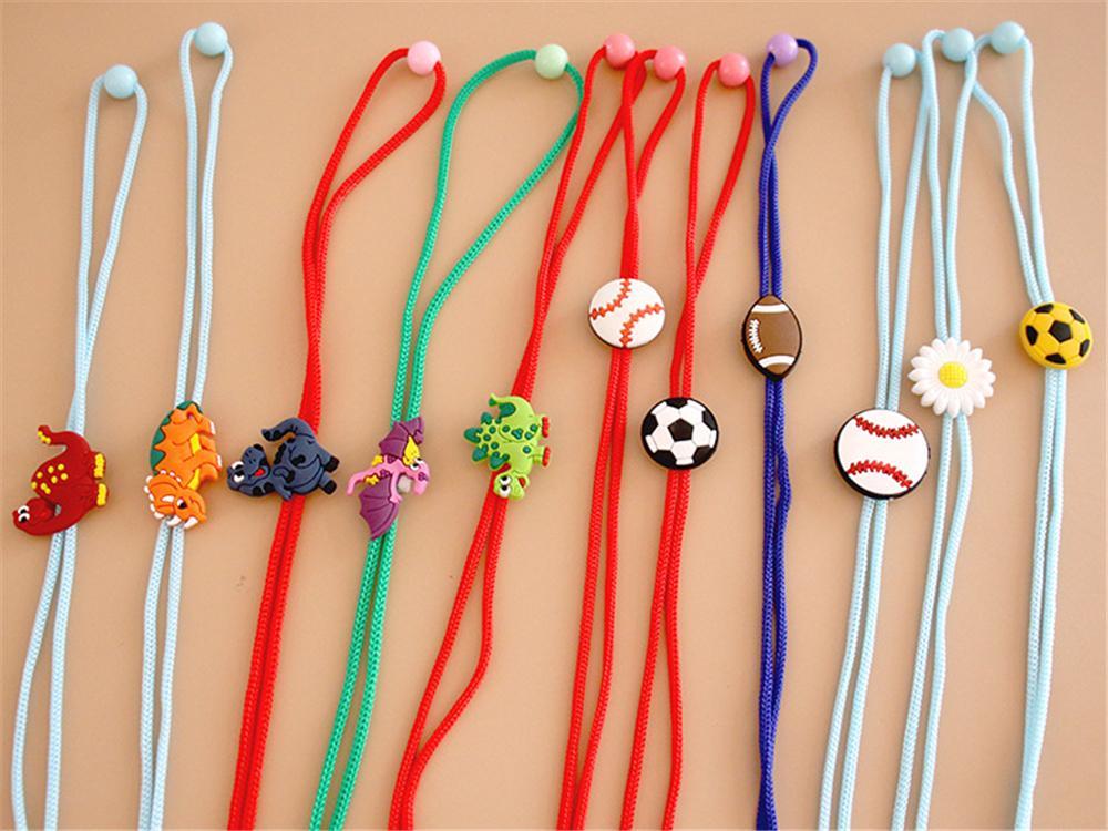 Venta caliente 2021 Máscara para niños Lanyard Ajustable Anti-perdido y anti-caída de orejas de silicona Máscara de dibujos animados Cuerda Oído con cable de extensión