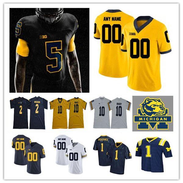 Collegio personalizzato Michigan Wolverines Football Chase Winovich Tom Brady Joe Milton Joe Milton Charles Woodson Jim Harbaugh Roman Wilson Jersey
