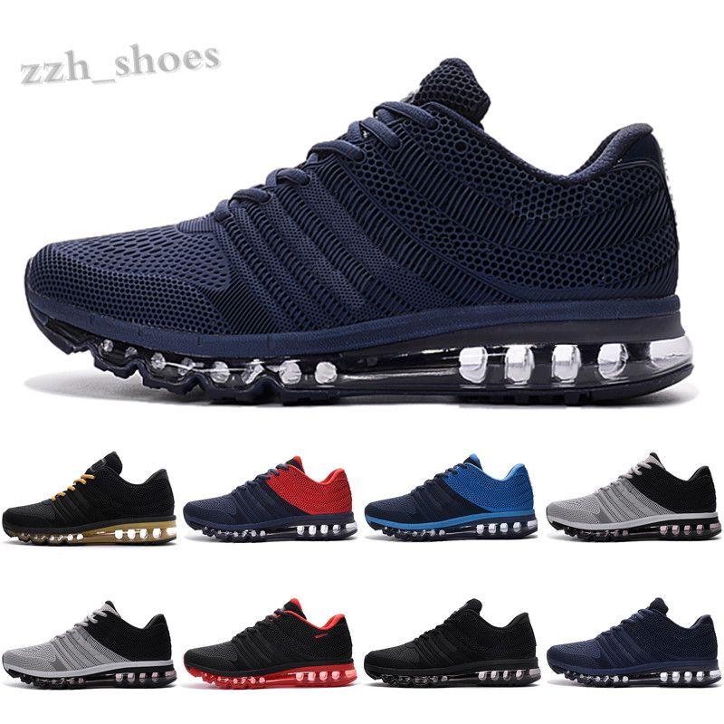 NIKE AIR MAX 2017 KPU Yüksek Kalite Yeni Varış Erkekler Chaussures Ayakkabı Erkekler Sneaker 2017 Erkek Spor Ayakkabı Bengal Turuncu Gri KPU Boyutu 40-45 PR07