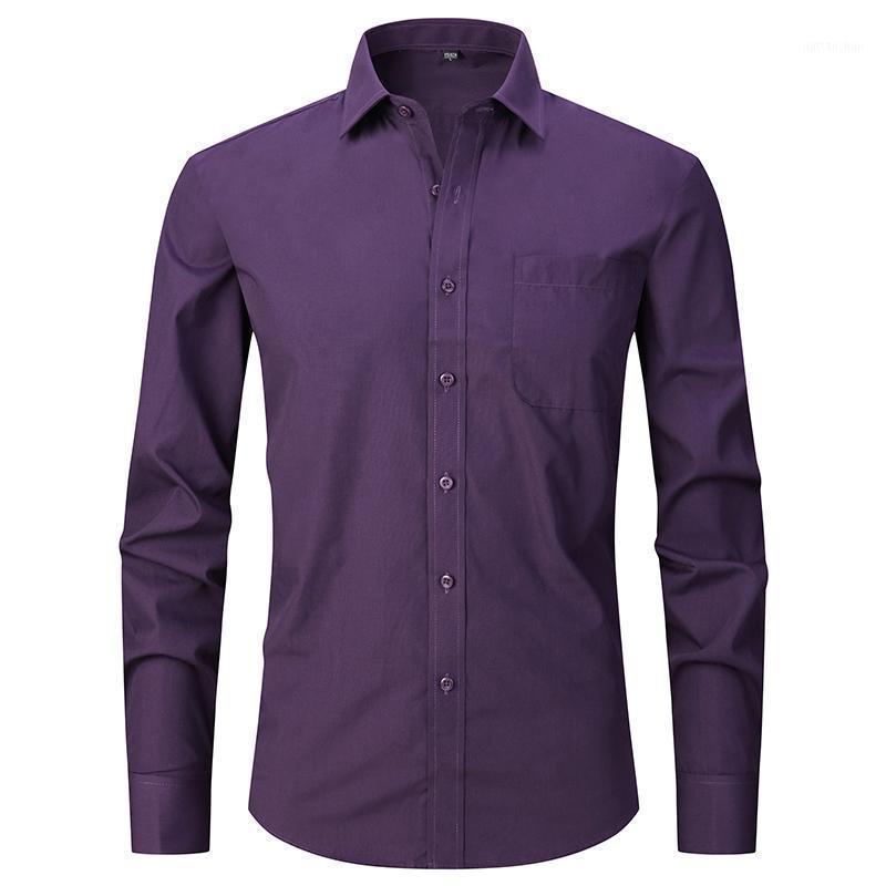 Camisas de rayas de hombre de otoño e invierno Mangas de manga larga para hombre Camisas de algodón Oficina formal1