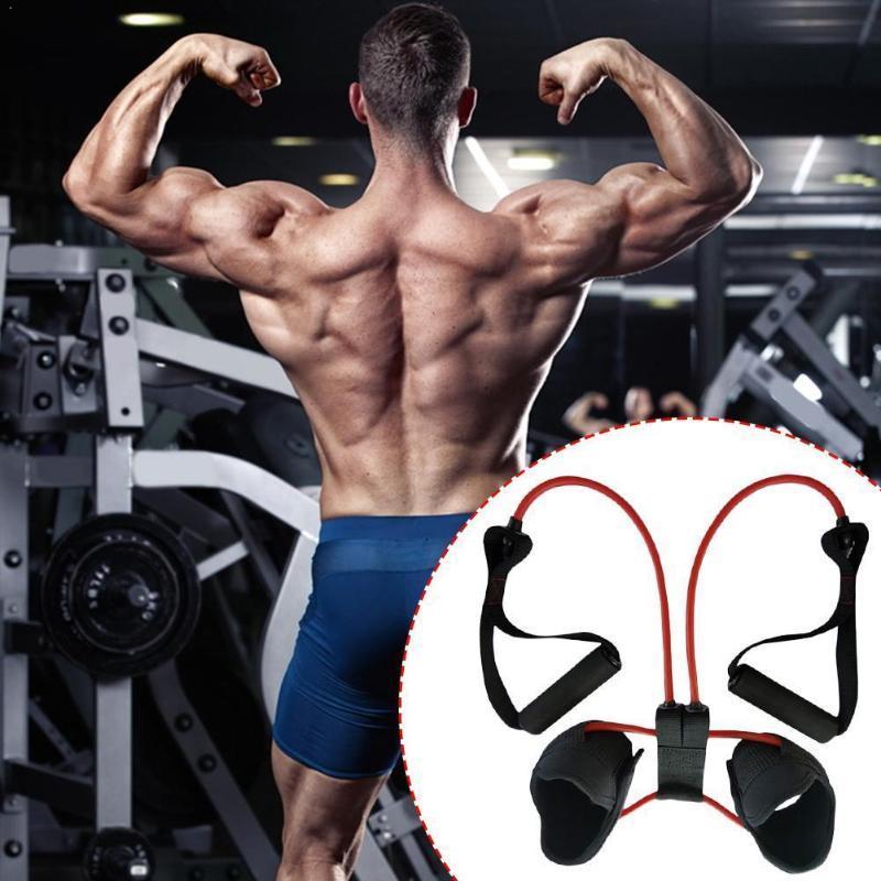 Brazo de entrenamiento estiramiento de la pierna Fitness Elastic Band Con mango músculos elásticos para las piernas ejercicio equipo hogar de la fuente Shaping unisex L4Q5