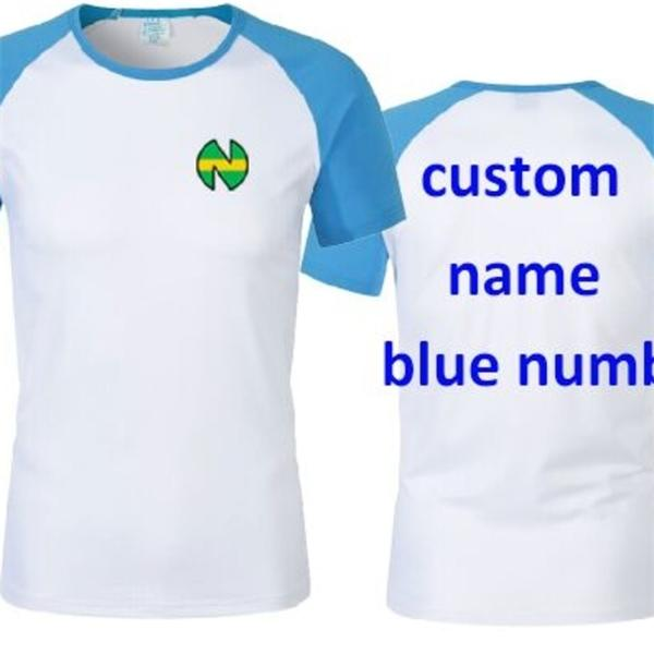 Çocuklar Erkekler Camisetas Futbol Futbol Oliver Atom Kaptan Cosplay Tsubasa Ozora Nankatsu Kısa Kollu Gömlek C1222