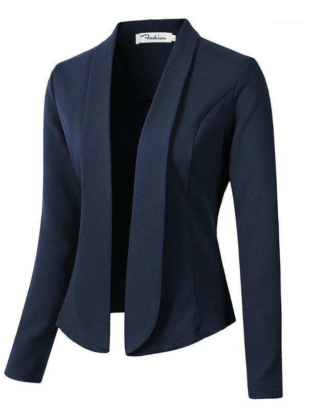Trajes de mujer Blazers Fashion Otoño Abrigos y chaquetas para que las mujeres trabajen en los zapatos de la mujer. Traje sin botones Negocios femeninos1