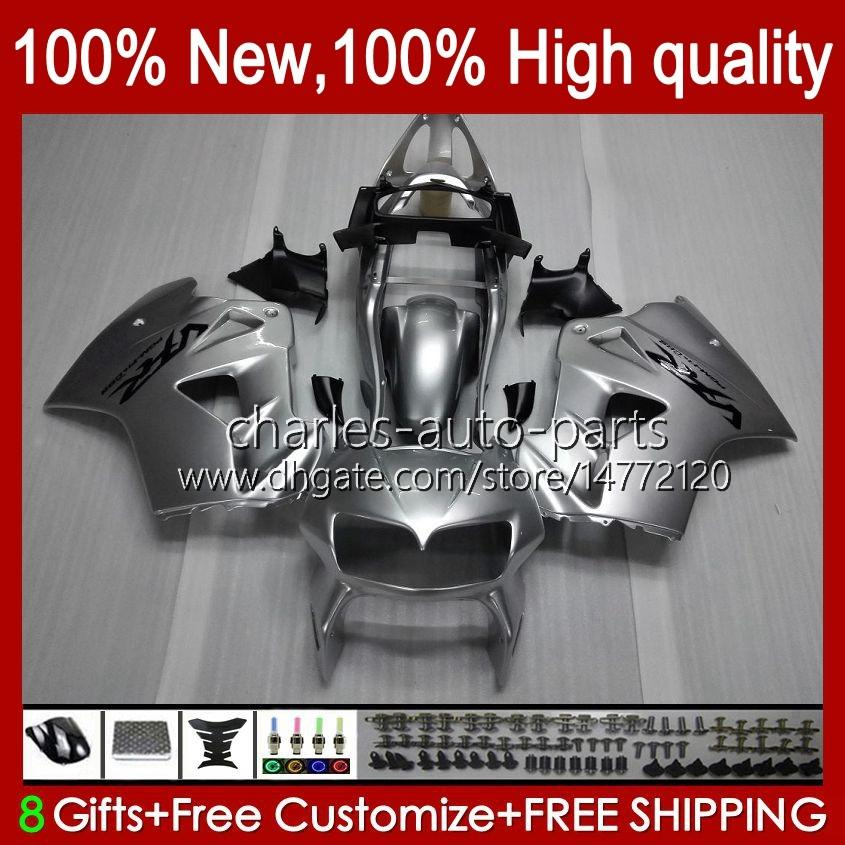 Bodys für Honda Interceptor VFR800RR 1998 1999 2000 2001 Körperarbeit 99HC.23 Silvery Glossy VFR800R VFR 800RR 800 RR VFR800 98 99 00 01 Verkleidung