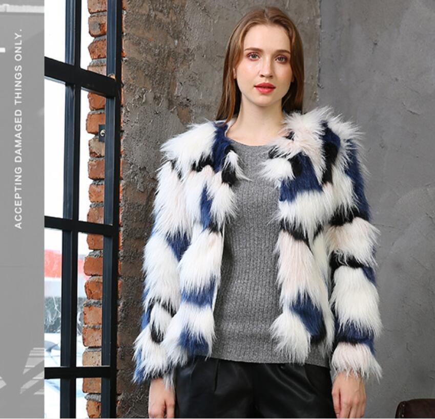 2020 automne européens et américains ainsi que la taille et l'hiver de nouveaux manteaux en fausse fourrure mode de fourrure court manteau de fourrure des femmes