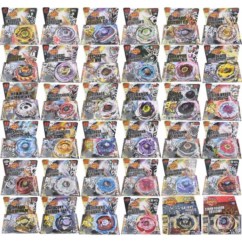 Bayblade 16pcs / lot 30 Stil BB104-BB128 4D Metallspindel mit Launcher Weihnachtskinder Tag Geschenk 200928