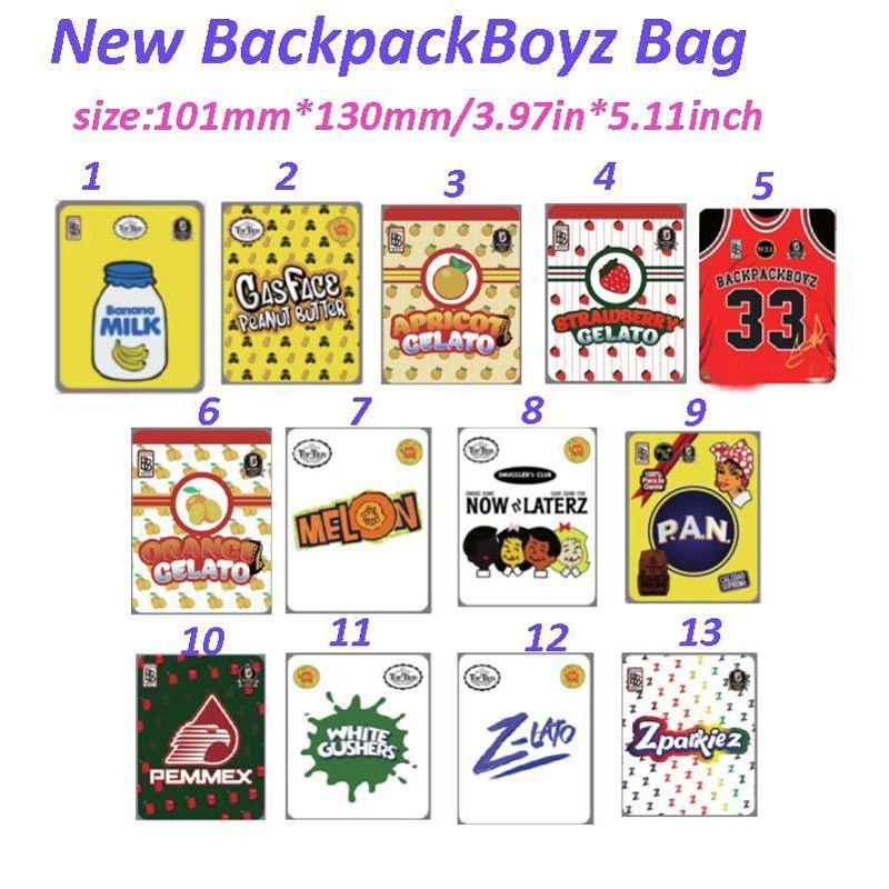 Nuovo Backpackboyz 33 Odore Proof 420 Packaging 3.5G Borse Mylar BAGS Runtz Borse Cookies 710 Personali personalizzati Borse Mylar Backpack Boyz Pacchetti